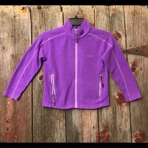 Girl's Marmot Purple Fleece Jacket